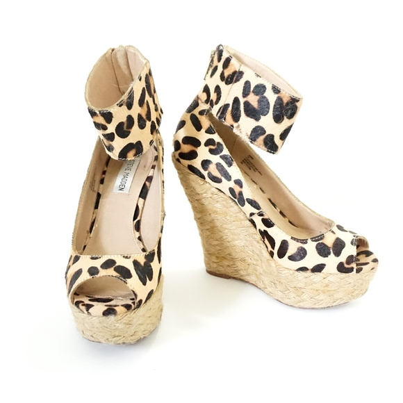 f36ecbf29a Steve Madden Shoes | Kardd Leopard Espadrille Wedges | Poshmark